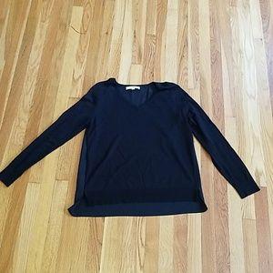 Black LOFT mixed media sweater